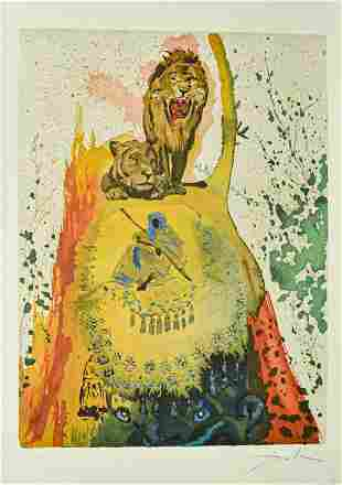 Salvador Dali Lithograph Solomon and Sheba