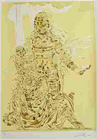 Salvador Dali Lithograph Exploding Madonna