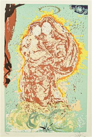Salvador Dali Lithograph Gala, My Sistine Madonna