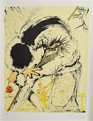 Salvador Dali Lithograph Don Quixote Overwhelmed
