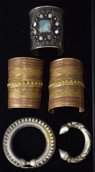 Grouping of Cuff & Bangle Bracelets