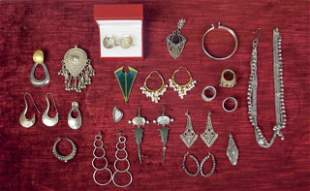 Grouping of Silver Jewelry