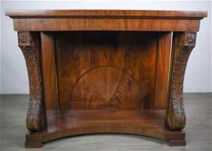 Regency Style Walnut Console Table