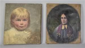 Two 19th Century Portraits