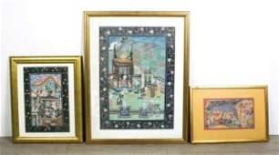 3 Pieces Persian Artwork