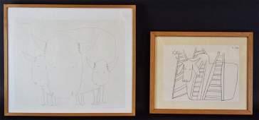 2 Dana Lipsig Drawings on Paper