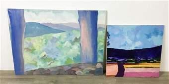 2 Landscape Oils on Canvas