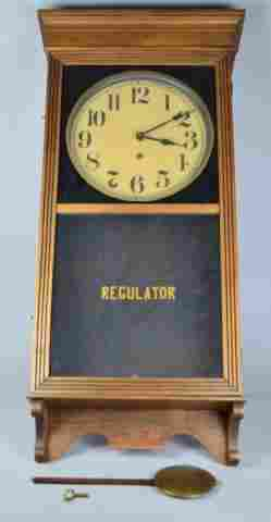Vintage Wall Hanging Regulator Clock