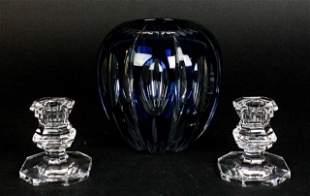 Val Saint Lambert & Baccarat Crystal