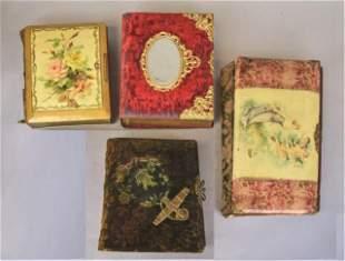 4 Victorian Photo Albums