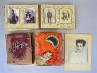 3 Victorian Photo Albums & Cabinet Cards