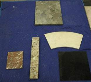 5 Mixed Granite & Marble Pieces