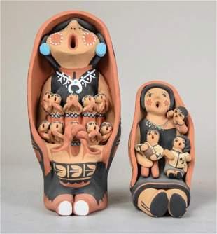 2 Jemez Pottery Storytellers
