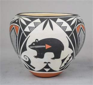 Acoma Native American Pottery Vase