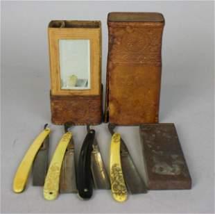 Straight Razors in Leather Case