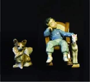2 Lladro Porcelain Figurines