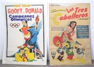 2 1940s Walt Disney Movie Posters