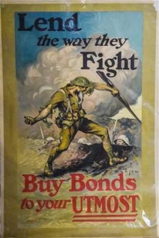 EM Ashe WWI War Bonds Poster
