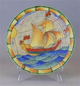 Crown Devon Clipper Ship Pottery Charger