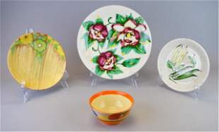 4 Pieces Clarice Cliff Pottery