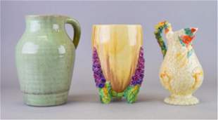 3 Pieces of Clarice Cliff Pottery