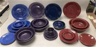 24 Pieces Fiestaware Including Vintage