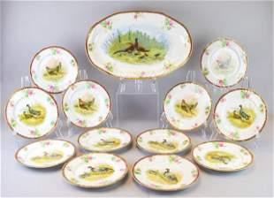 13 Piece L.S. & S. Austrian Porcelain Game Set