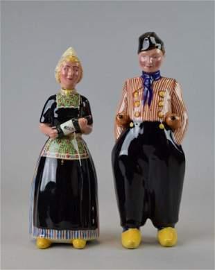 Pair of Bols Dutch Porcelain Liquor Bottles