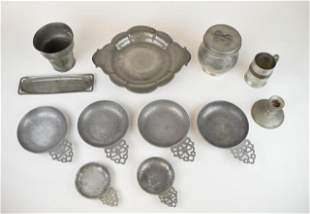 Grouping of Pewter