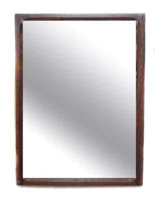Danish Mid-Century Modern Rosewood Wall Mirror