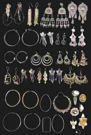 Grouping of Silver Earrings