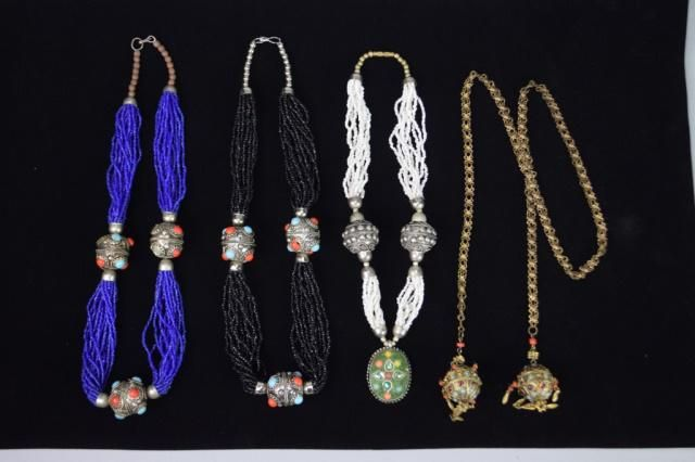 Grouping of Beaded Necklaces