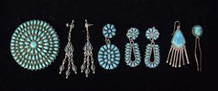 Turquoise & Sterling Native American Jewelry