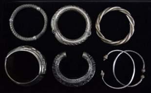 Grouping of Silver Bracelets