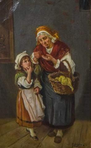 R. Heyna Oil on Canvas in Gilt Frame