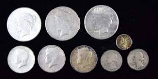 Group of 9 Silver Coins