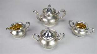 4 Piece Van Bergh Silverplate Tea Set
