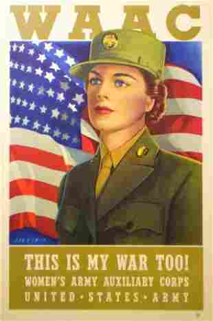 Dan V. Smith WAAC WWII Poster