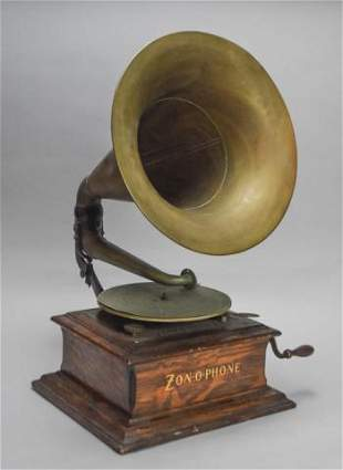 Zon-O-Phone Phonograph with Horn