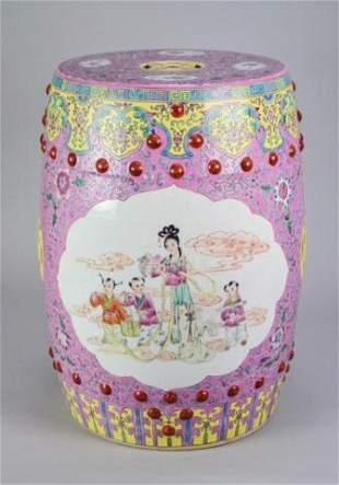 Chinese Famille Rose Garden Seat