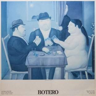 Fernando Botero Print I Giocatori di Carte