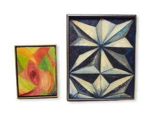 2 Jen Berson Abstract Oil Paintings