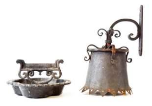 2 Decorative Cast Iron Items