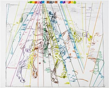 Larry Rivers Lithograph Polish Rider