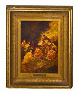 Attributed to Adolphe Monticelli Oil on Canvas