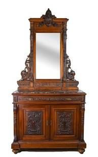RJ Horner Style Ornately Carved Dresser