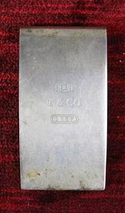 Tiffany and Co. 1837 Sterling Hinged Money Clip