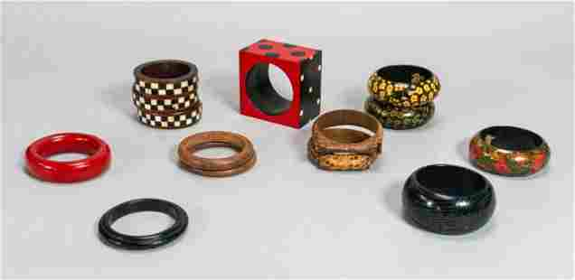 Grouping of Wooden Bangles