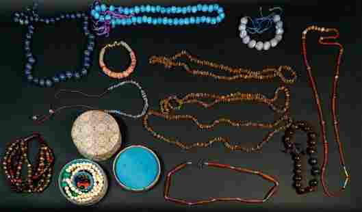Grouping of Tribal Beaded Jewelry