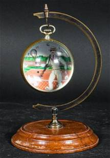 Swiss Omega Painted Glass Ball Clock